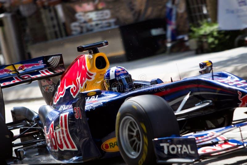 близкая демонстрация f1 Давида coulthard вверх стоковое фото