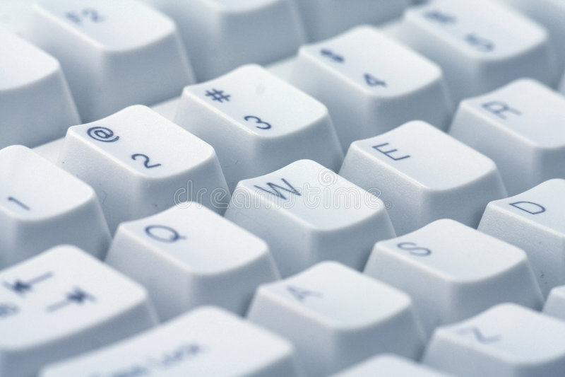 близкая клавиатура вверх стоковая фотография