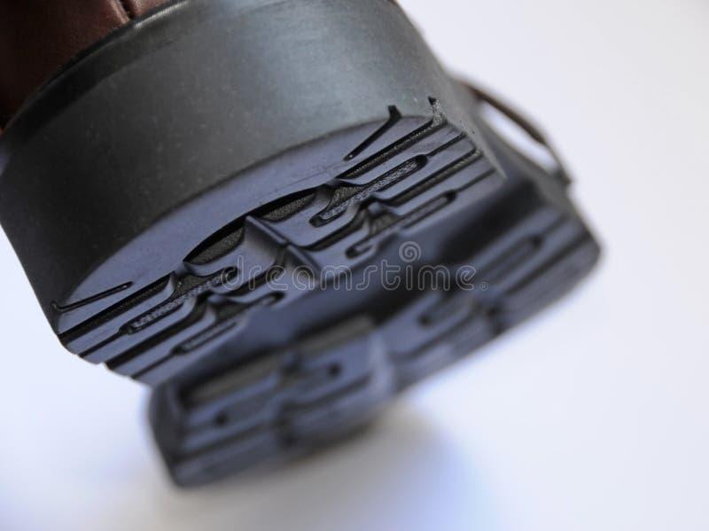 близкая подошва ботинка вверх стоковое изображение rf