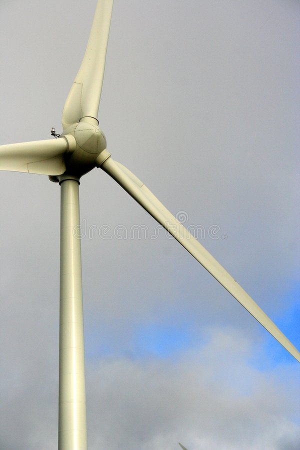 близкая турбина вверх по ветру стоковые фото