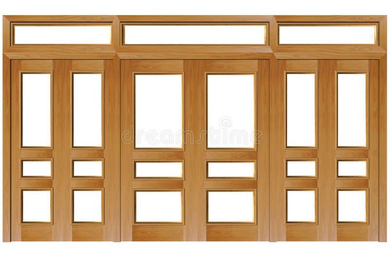 близкие двери иллюстрация вектора