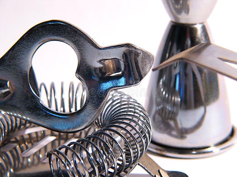 близкие инструменты коктеила вверх стоковые фотографии rf