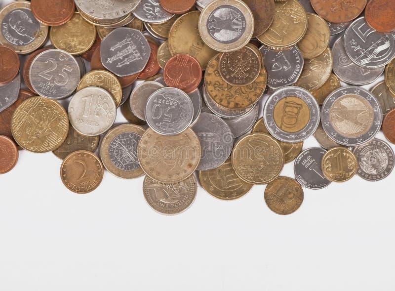 близкие монетки вверх стоковые фото