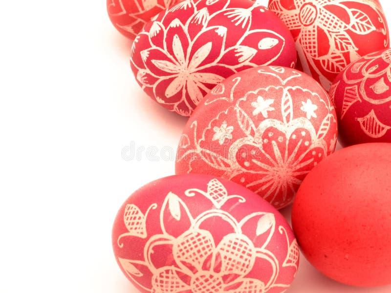 близкие пасхальные яйца вверх стоковые фотографии rf