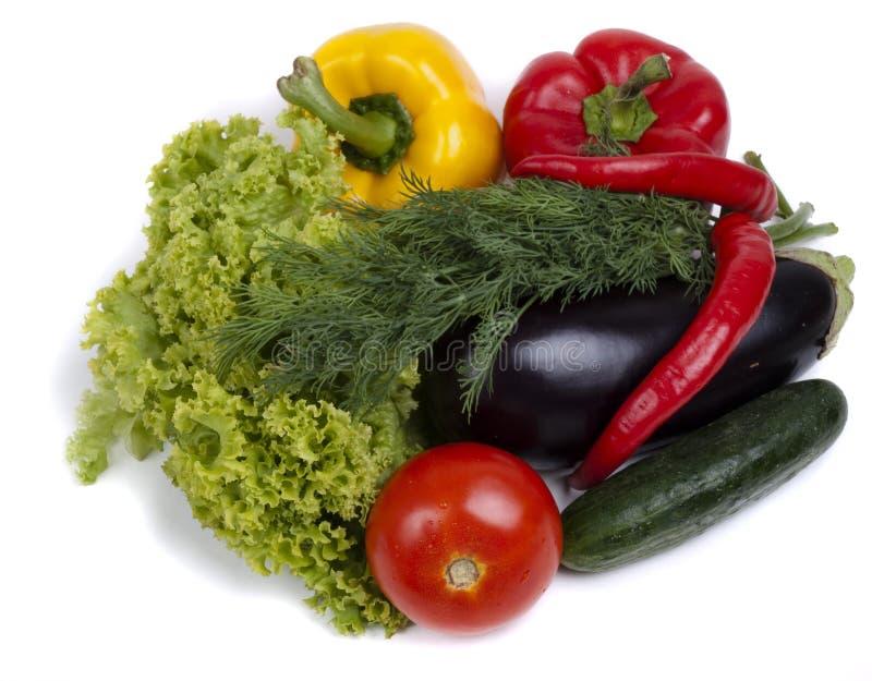близкие свежие поднимающие вверх овощи стоковое изображение rf