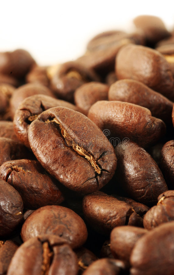 близкие Coffeebeans вверх Стоковые Фотографии RF