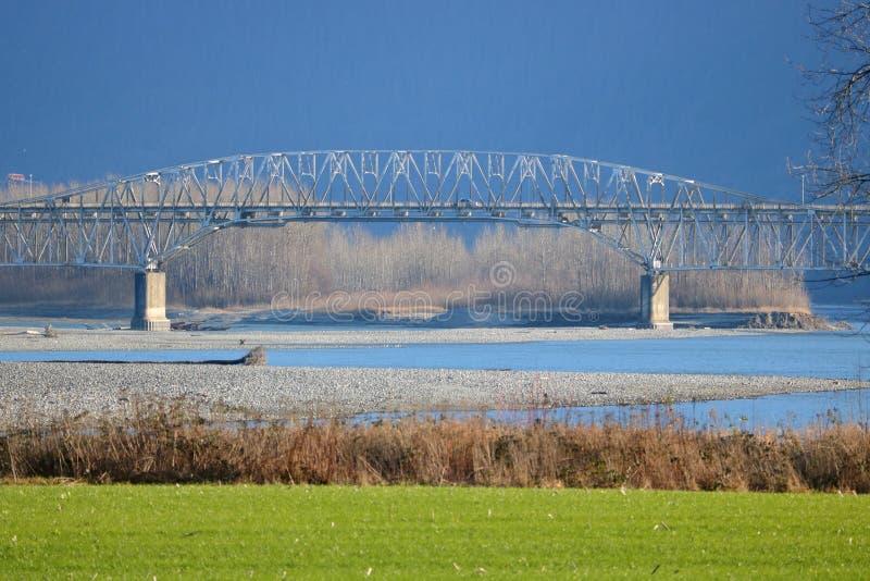 Близкий взгляд моста Agassiz Британской Колумбии стоковая фотография