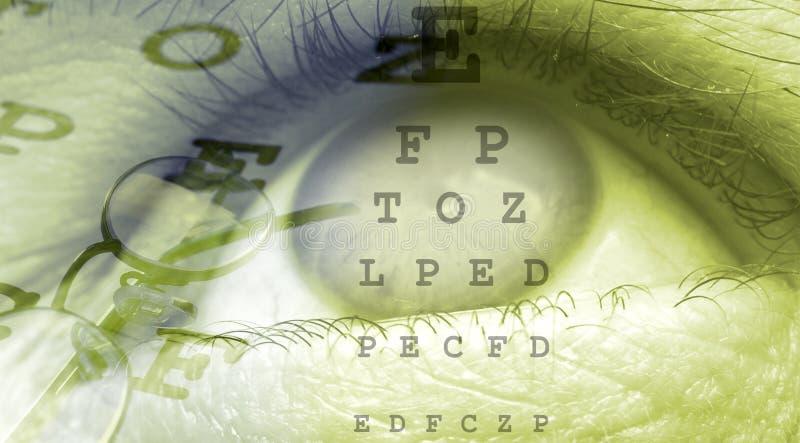 близкий глаз вверх иллюстрация вектора