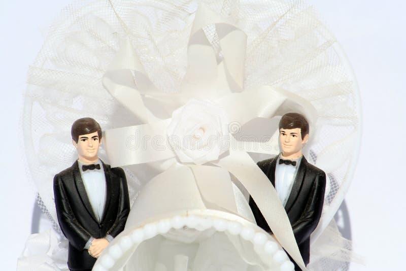 близкий гомосексуалист вверх по венчанию стоковые фотографии rf