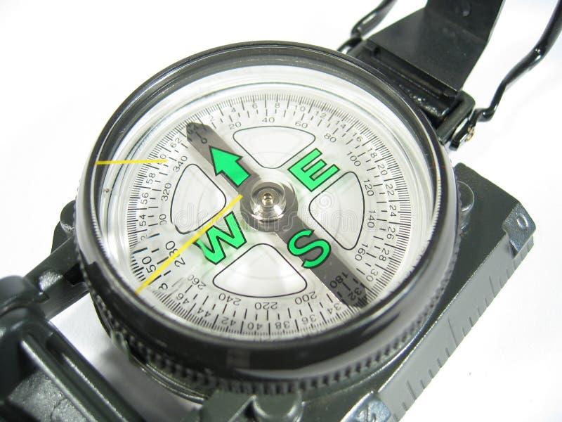 близкий компас ii вверх стоковая фотография