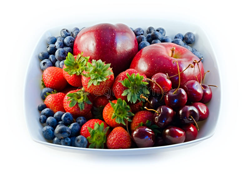 близкий красный цвет плодоовощ вверх стоковые изображения rf