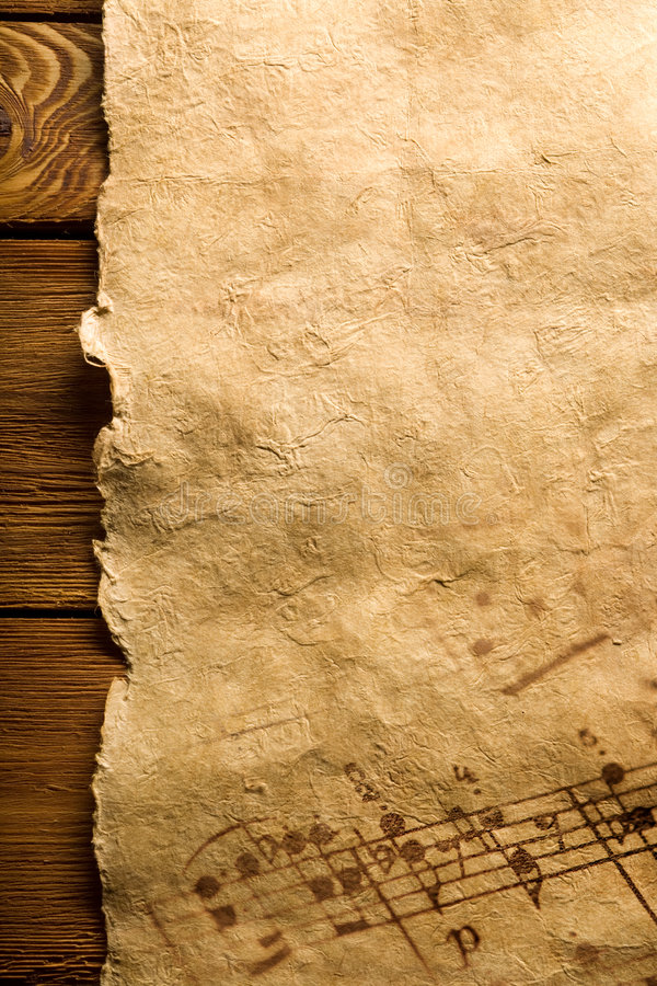 близкий лист нот вверх стоковое фото