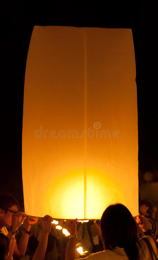 близкий плавая фонарик вверх по взгляду стоковое изображение