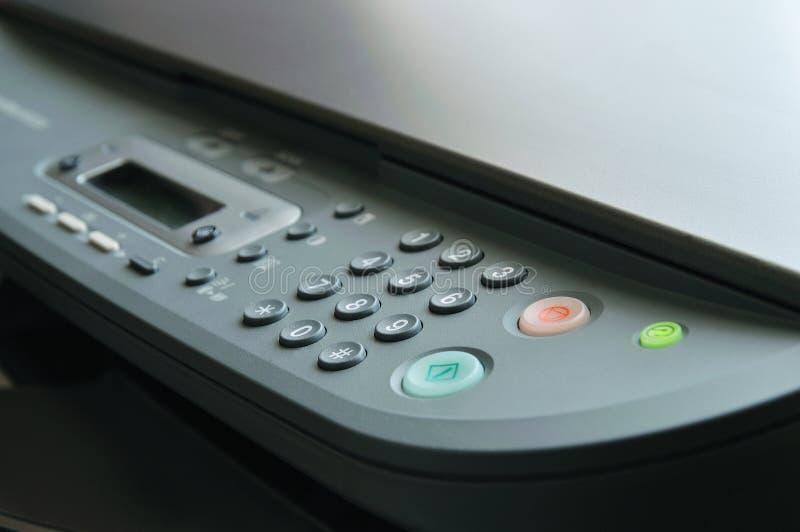 близкий принтер вверх стоковое изображение rf