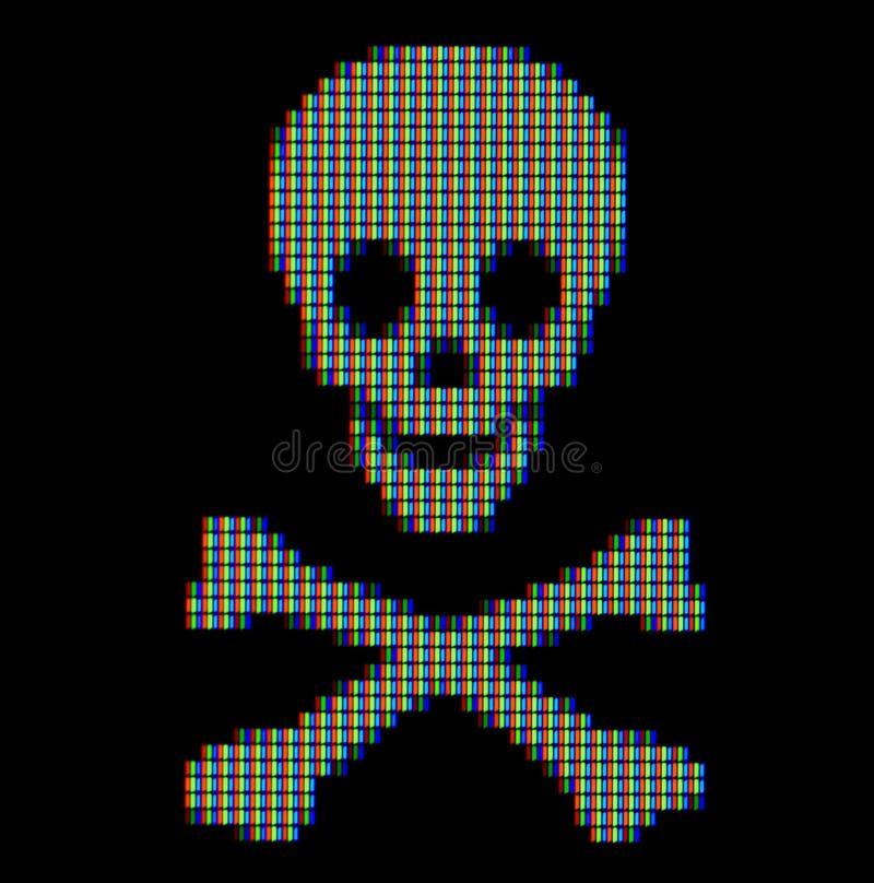 близкий символ пирата вверх иллюстрация вектора