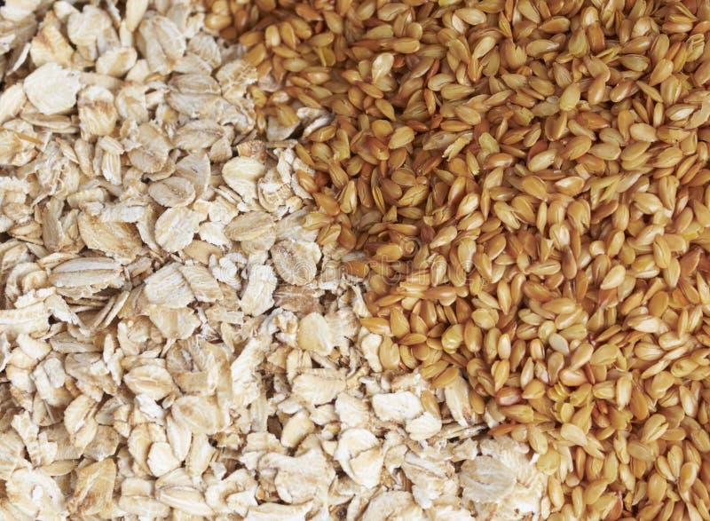 близкий oatmeal flaxseed вверх стоковые изображения