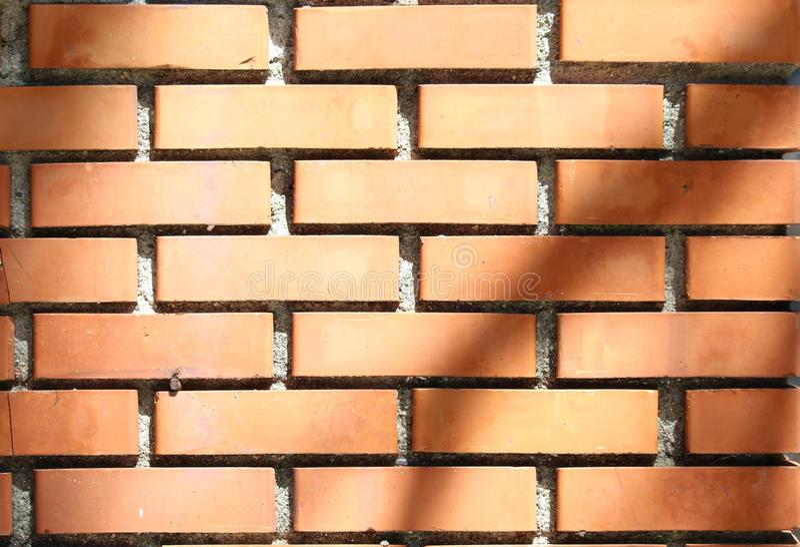 Близкое поднимающее вверх фото красной кирпичной стены стоковые фотографии rf