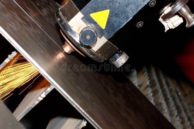 близкое промышленное фото лазера вверх стоковое изображение rf