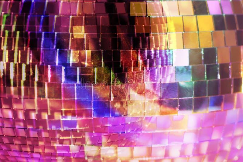 близкое mirrorball вверх стоковое изображение