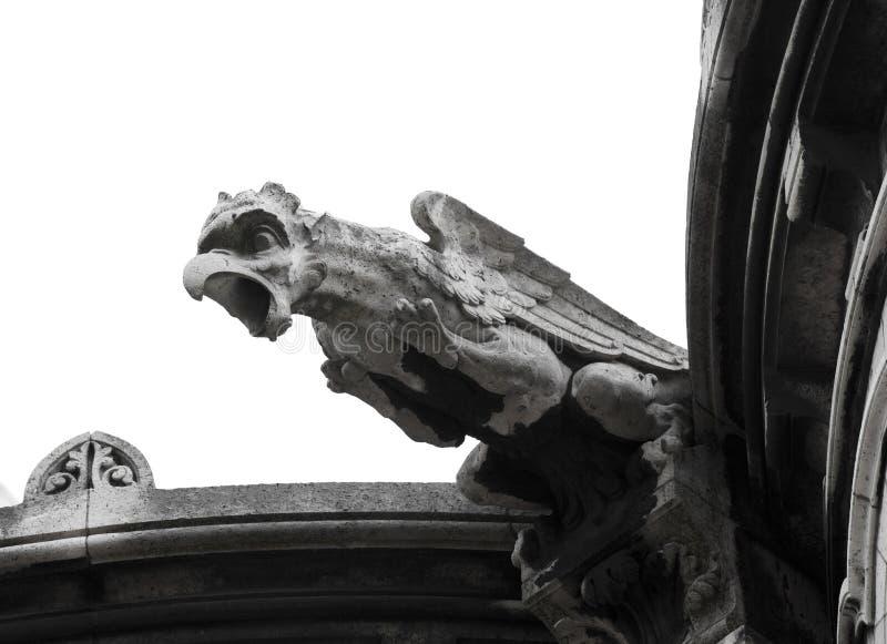 близкое sacre gargoyle s coeur вверх стоковые изображения rf