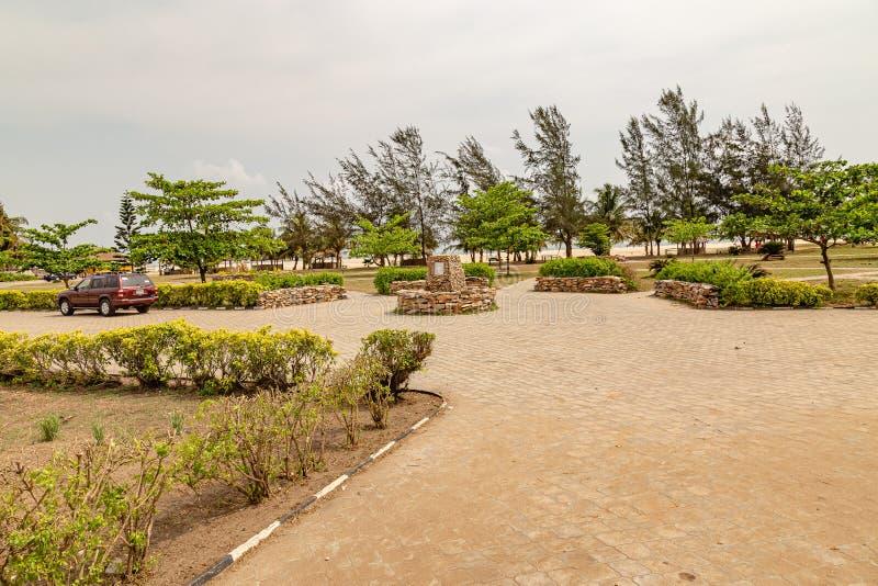 Близко к пляжу Музея Обафеми Аволово Lekki Lagos Нигерия стоковая фотография rf