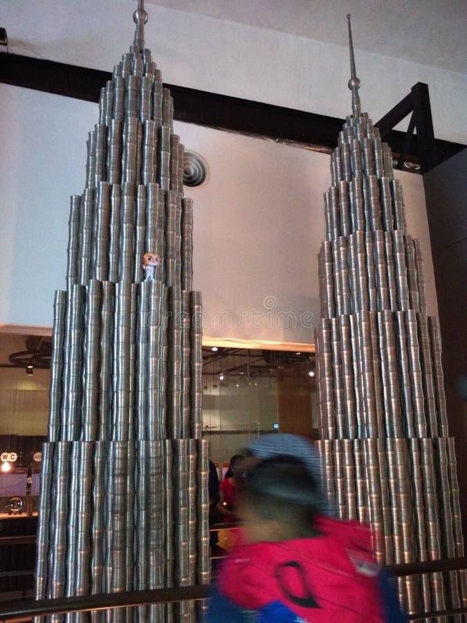 близнец башни стоковое изображение rf
