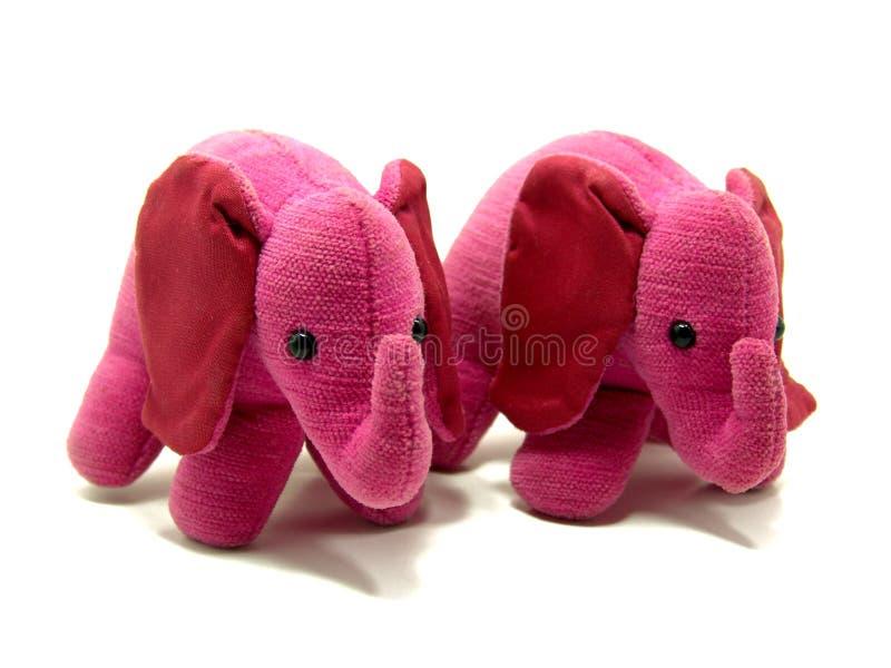 близнец слонов розовый стоковое изображение rf