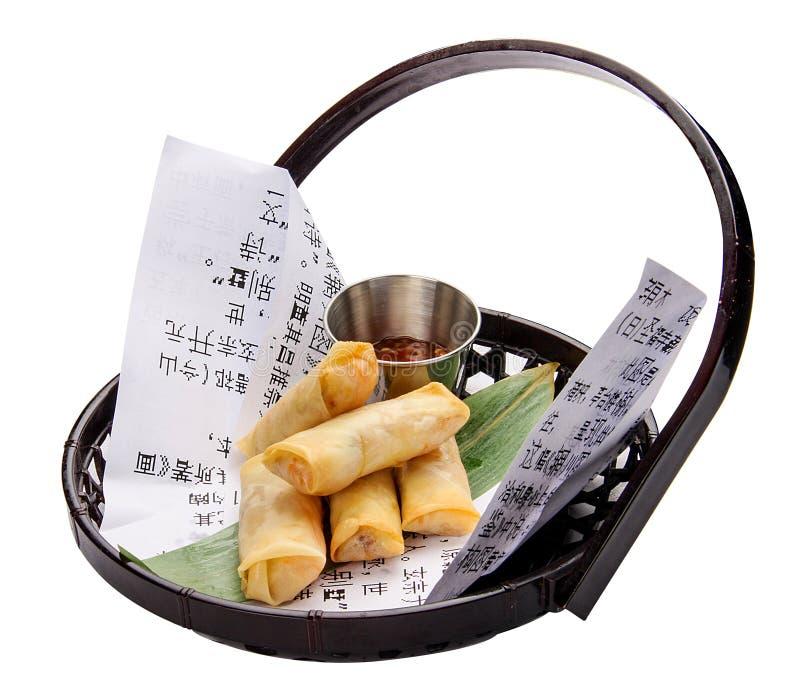 Блинчики с начинкой с семгами и соусом стоковые фотографии rf