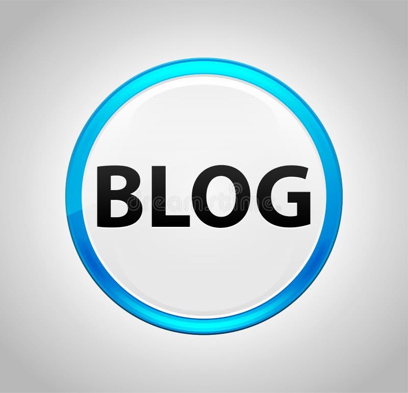 Блог вокруг голубой кнопки бесплатная иллюстрация