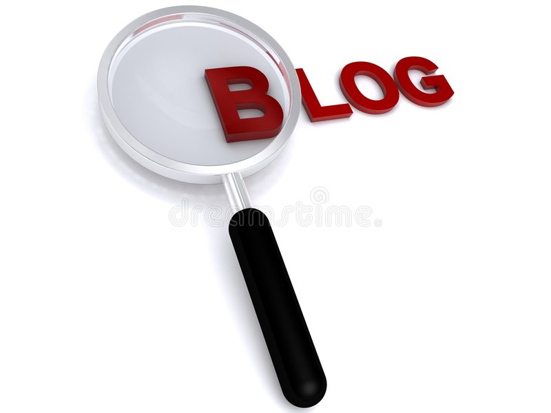 Блог иллюстрация штока
