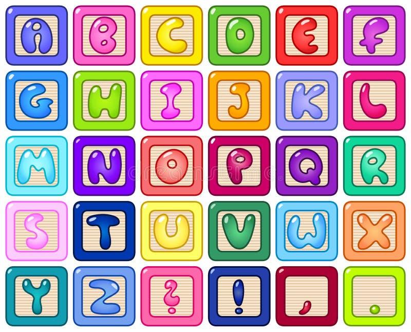блоки алфавита иллюстрация вектора