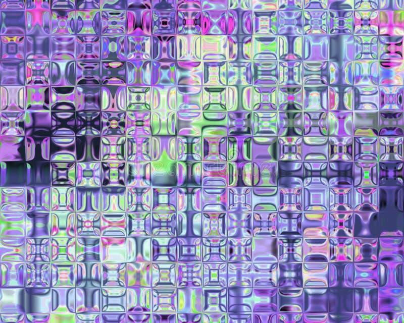 Блоки генетического искусства психоделические стеклянные лиловые иллюстрация вектора