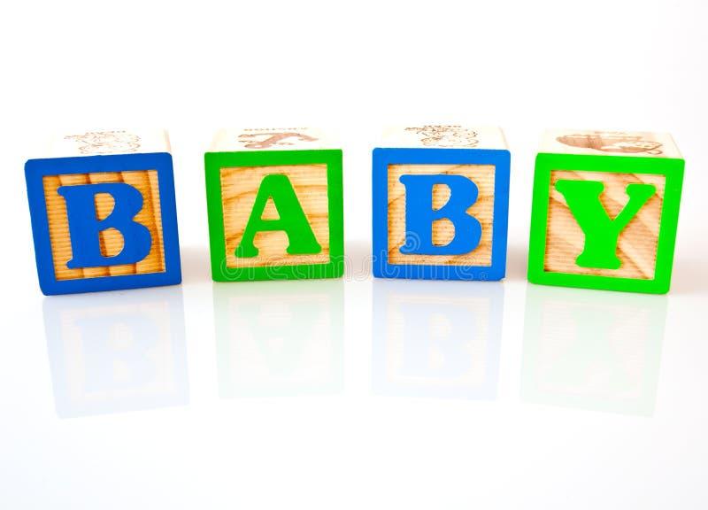 блоки младенца сказали деревянное по буквам стоковая фотография rf