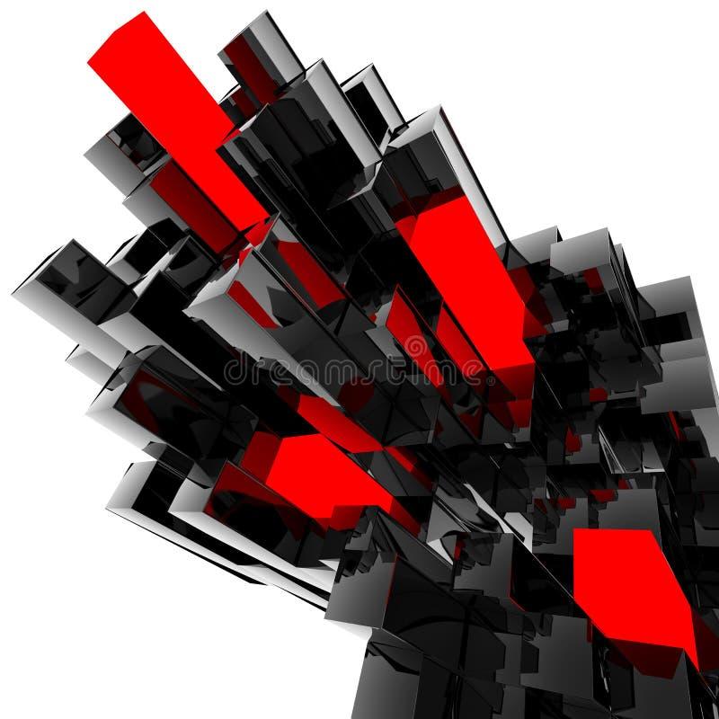 Блоки пластмассы иллюстрация вектора