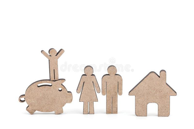 Блоки символа деревянные на белой предпосылке стоковая фотография