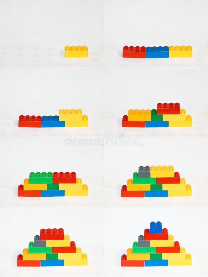 блоки строя последовательность стоковое изображение