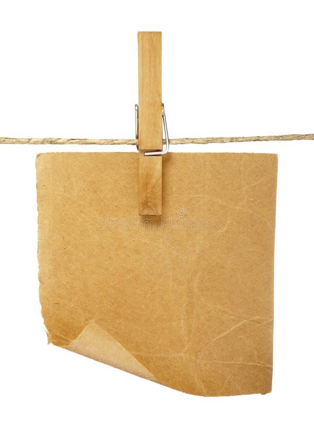 блокноты clothespins стоковое фото rf