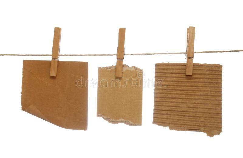 блокноты clothespins стоковое фото