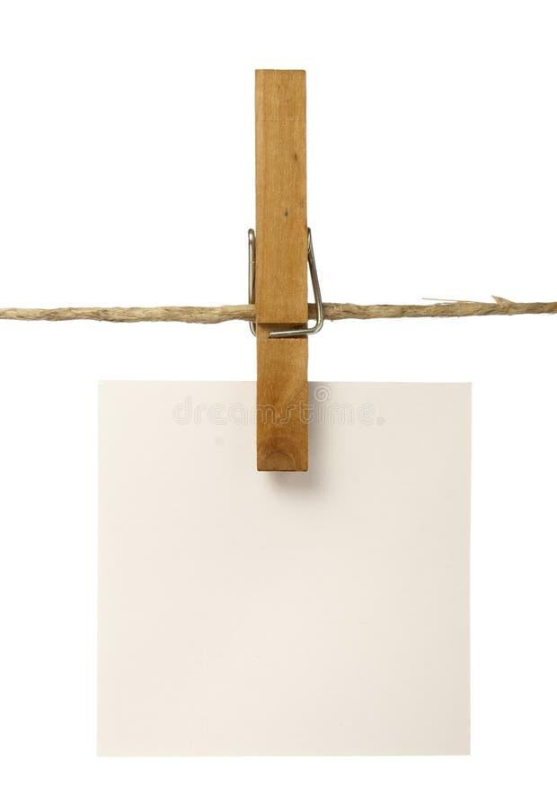 блокноты clothespins стоковая фотография rf