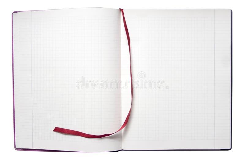 блокнот открытый стоковая фотография rf