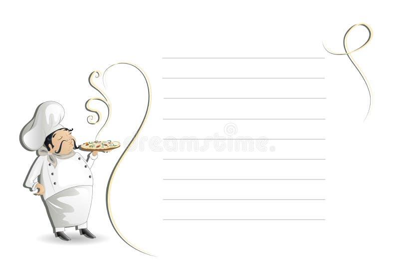 блокнот шеф-повара иллюстрация штока
