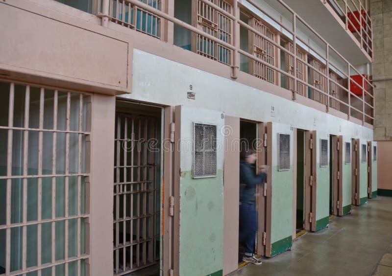 блок обработки тюрьмы alcatraz стоковое изображение rf