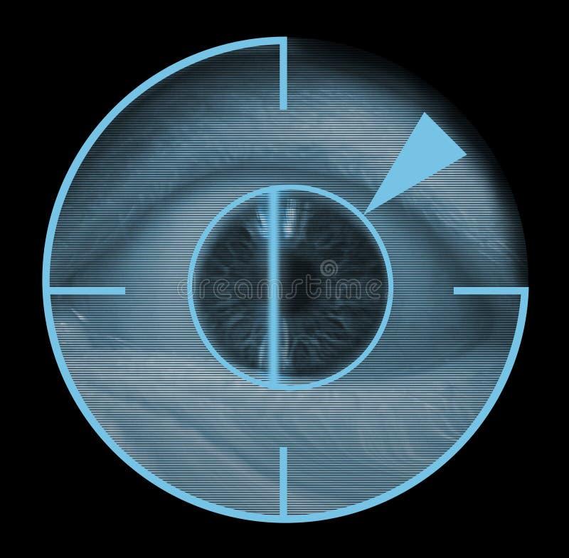 блок развертки биометрического глаза ретинальный иллюстрация штока