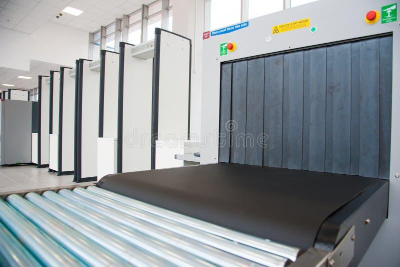 Блок развертки рентгеновского снимка на контрольно-пропускном пункте безопасностью стоковое изображение
