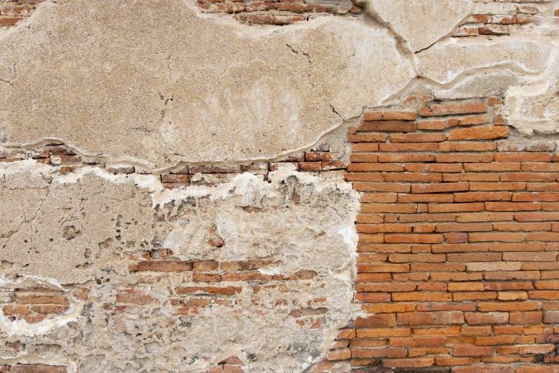 Блок старого exture стены цемента кирпича красный оранжевый белый горизонтальный стоковое фото rf