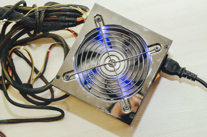 Блок электропитания компьютера стоковое фото rf