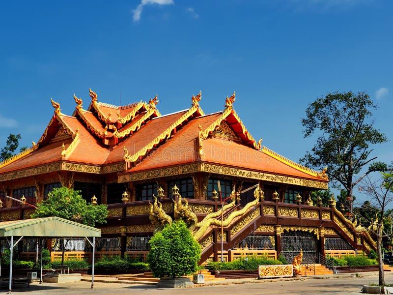 Богато орнаментированный буддийский висок стоковая фотография