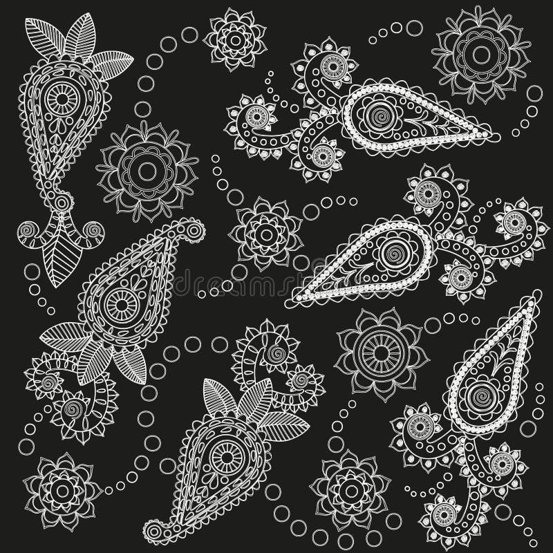 Богато украшенная картина Пейсли иллюстрация вектора