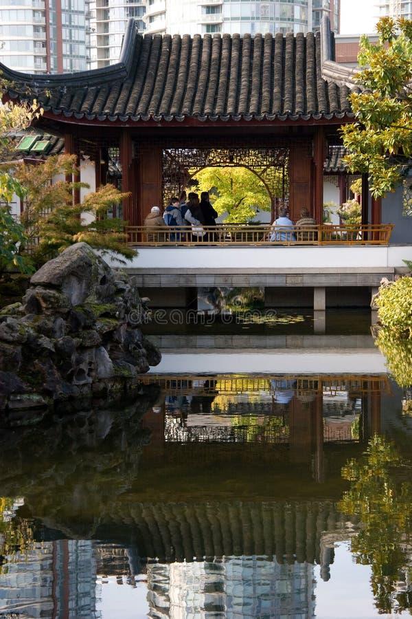 Богато украшенная пагода, Ванкувер Чайна-таун стоковое фото rf
