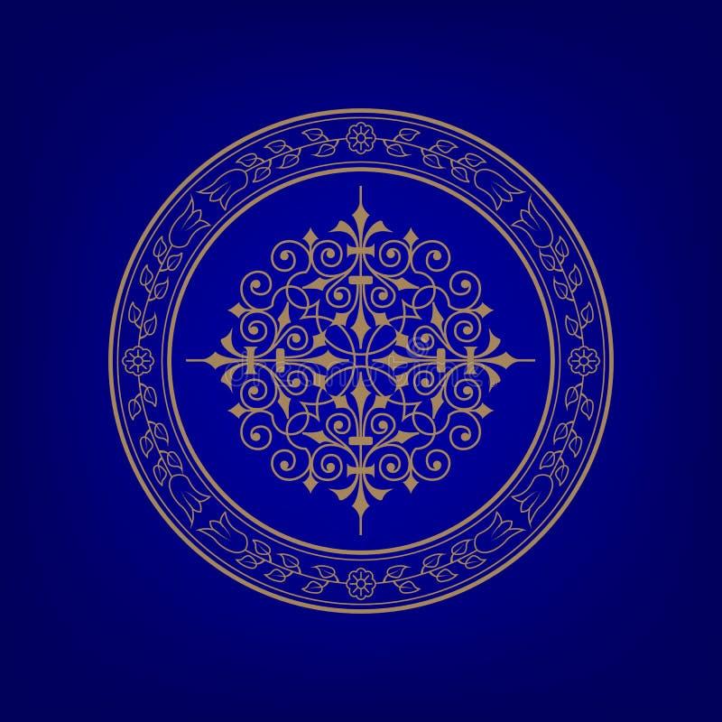 Богато украшенное знамя. иллюстрация вектора